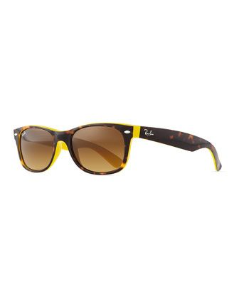 Two-Tone Wayfarer Sunglasses, Tortoise/Yellow by Ray-Ban at Neiman Marcus