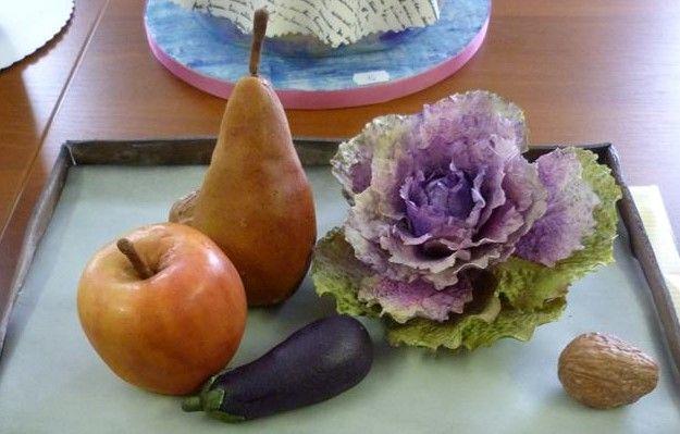 sugar paste vegetables