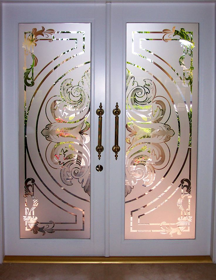 Doors and etched glass inserts made in Palm Beach, Florida, USA