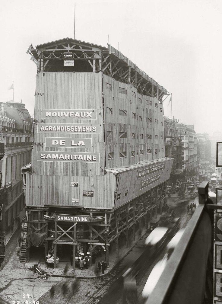 1930 chantier de rénovation de la SAMARITAINE