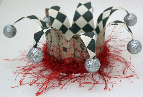 Court Jester hat, Circus, carnival, clown, party hat, crown, hat, fascinator.
