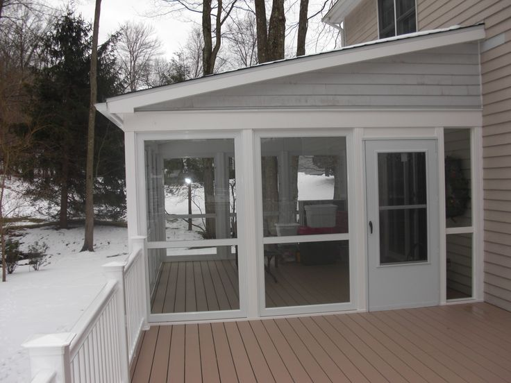 enclosed deck | Enclose Your Screen Porch | Custom Decks of Fairfield County ...