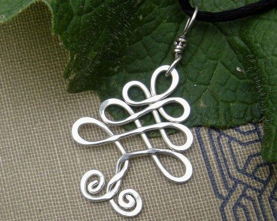 Keltischer Baum Sterling Silber Anhänger - Baum des Lebens - Weihnachtsbaum-Halskette - keltischer Schmuck - Holidays - Weihnachtsbaum-Anhänger Silber Draht
