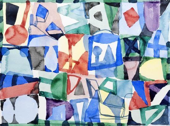 Jan Voss - Croisière pour nains - 2009 Aquarelle sur papier 56 x 76 cm (Galerie Lelong)