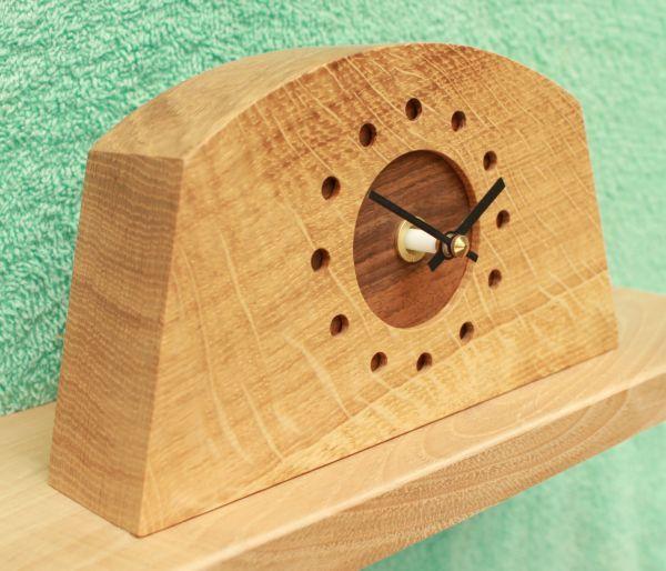 Oblong Oak Mantel Clock