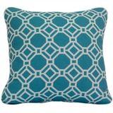 Blue Geometric Indoor/Outdoor Cushion