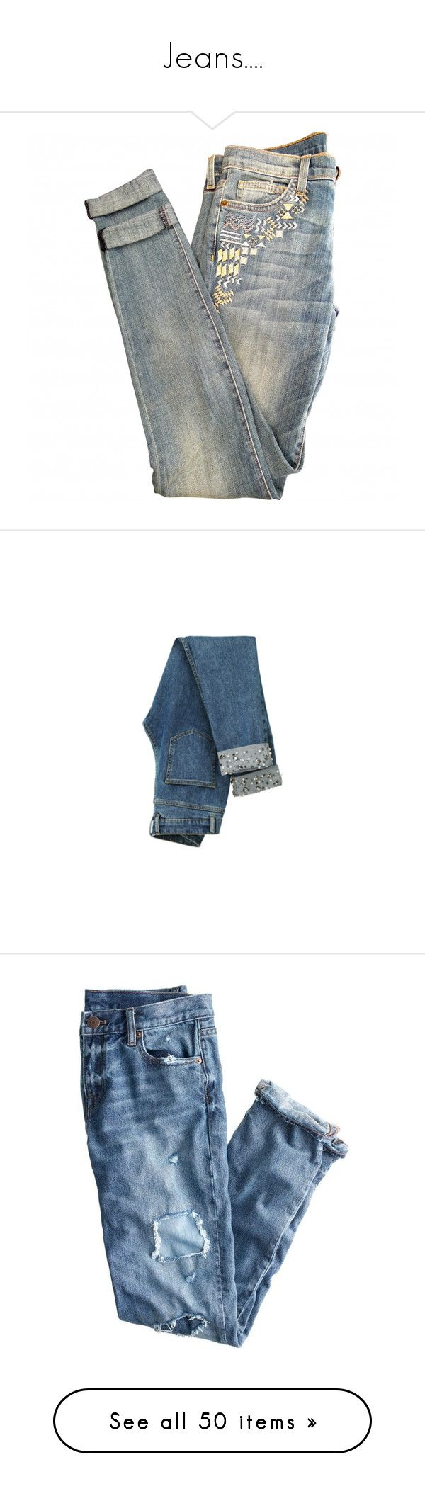 """Jeans...."" by sara-488 ❤ liked on Polyvore featuring men's fashion, men's clothing, men's jeans, pants, jeans, bottoms, denim, mens distressed jeans, mens patched jeans and mens destroyed jeans"