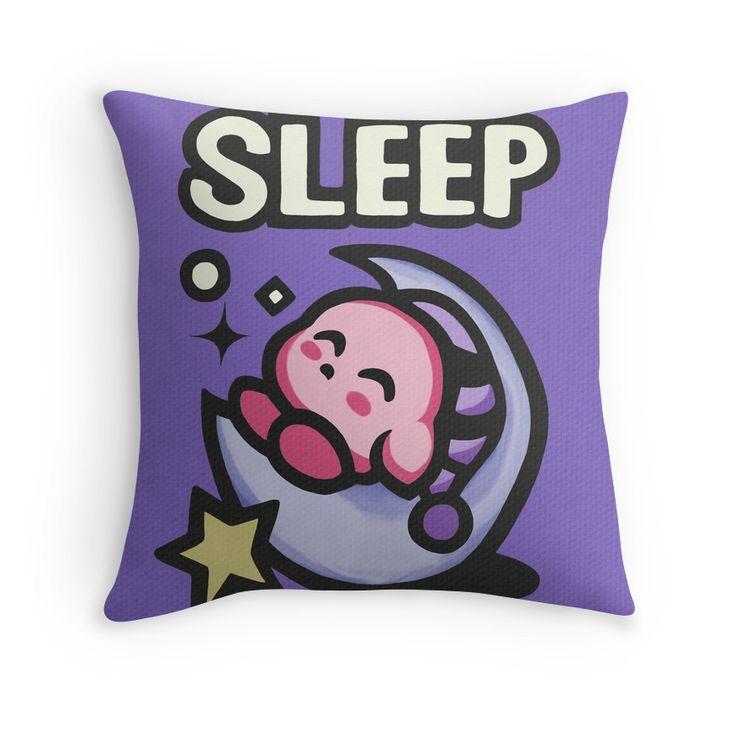 Kirby Sleep | Throw Pillow