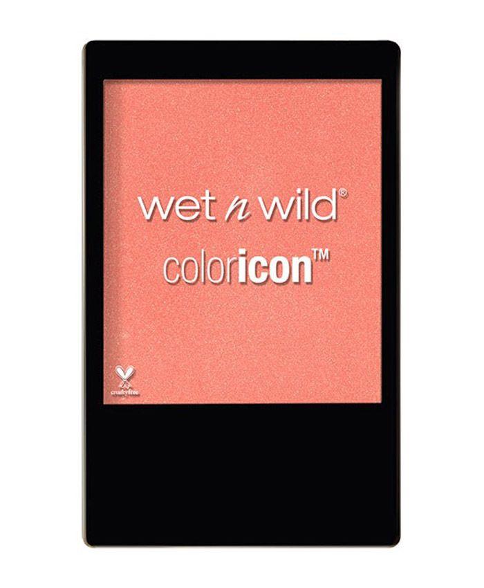 Мягкие пудровые румяна от Wet N Wild Color Icon Pearlescent Pink - прекрасное сочетание легкого блеска и насыщенного цвета.