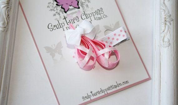 Pink Ballet Ballerina Slippers.  Ballerina by SculptureClippiesNCo, $4.00