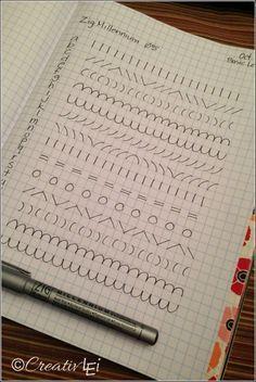 Una página de caligrafía ejercicios para mejorar la escritura a mano.  -CreativLEI.com