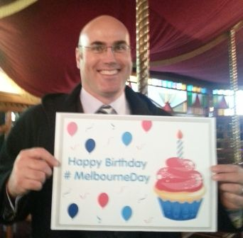Campbell Walker, Melbourne Day chairman. #MelbourneDay