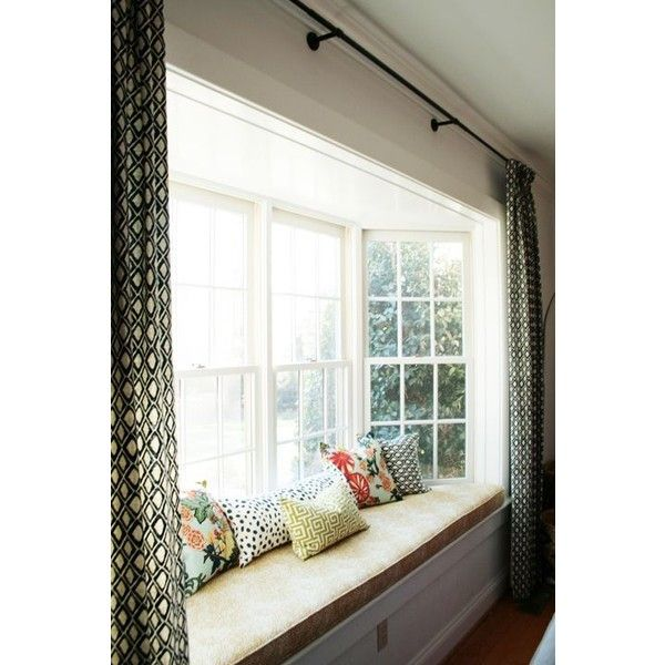 25 best ideas about bay window curtains on pinterest bay window treatments diy bay window. Black Bedroom Furniture Sets. Home Design Ideas