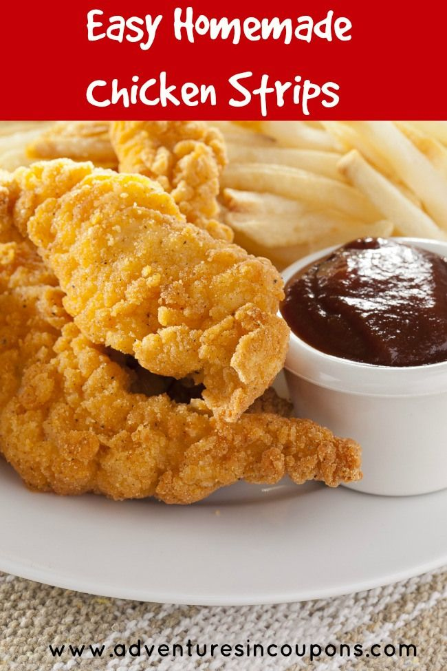 Homemade Chicken Strips Recipe - So Easy and Tasty! - Adventures in Coupons