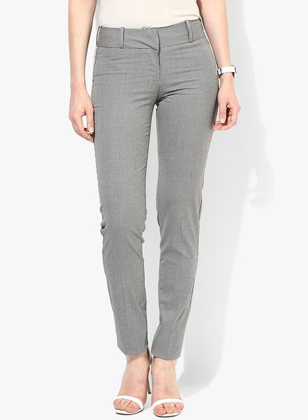 Buy Van Heusen Ivory Checked Chinos for Women Online India, Best Prices, Reviews   VA131WA03YDGINDFAS