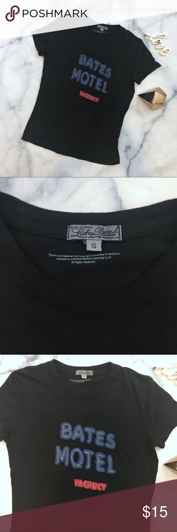 Lucky Brand Bates Motel Tee Everyday No Visible Signs Of Rips Stains Or