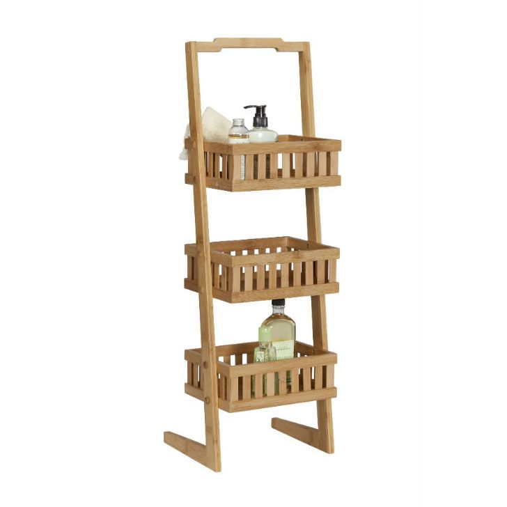 handcrafted from ecofriendly bamboo this stylish vanity valet offers 3 basketstyle tiers of storage for your master bath or powder room