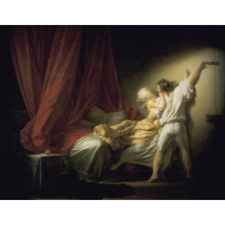 The Lock Le Verrou Jean Honor Fragonard (1732-1806French) Musee du Louvre Paris Canvas Art - Jean Honore Fragonard (24 x 36)