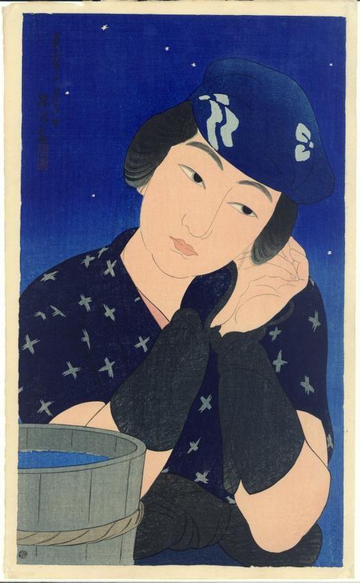 Itô Shinsui (1898-1972) Woman from Oshima Island. 1922: Art Japanese, Paintings Art, Japan Japanese, Japanese Painting Women'S, 1922 Hotei Japanese Prints Com, Shinsui 1898 1972, Japanese Paintings, Japanese Women, 1922 Women