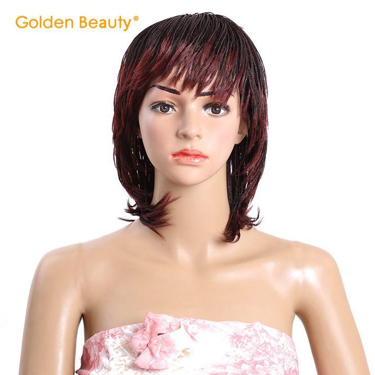 6-12 inch Synthetisch Haar Gevlochten Pruik Hittebestendige Micro Gevlochten Pruiken Doos Braid Pruiken Amerikaanse Vlechten Haar voor zwarte Vrouwen