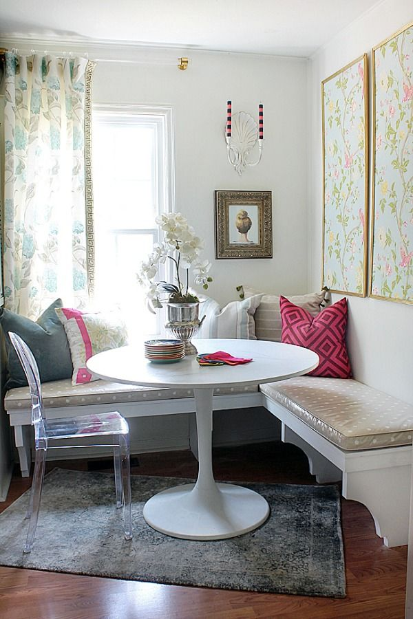 We LOVE built-in nooks like this one! | Kitchen Eat-in Area – Changes Are A Coming…