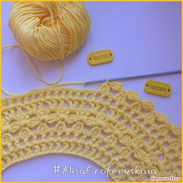 sarafanchik jaune pour bébé - tricoter ensemble en ligne - Moms Accueil