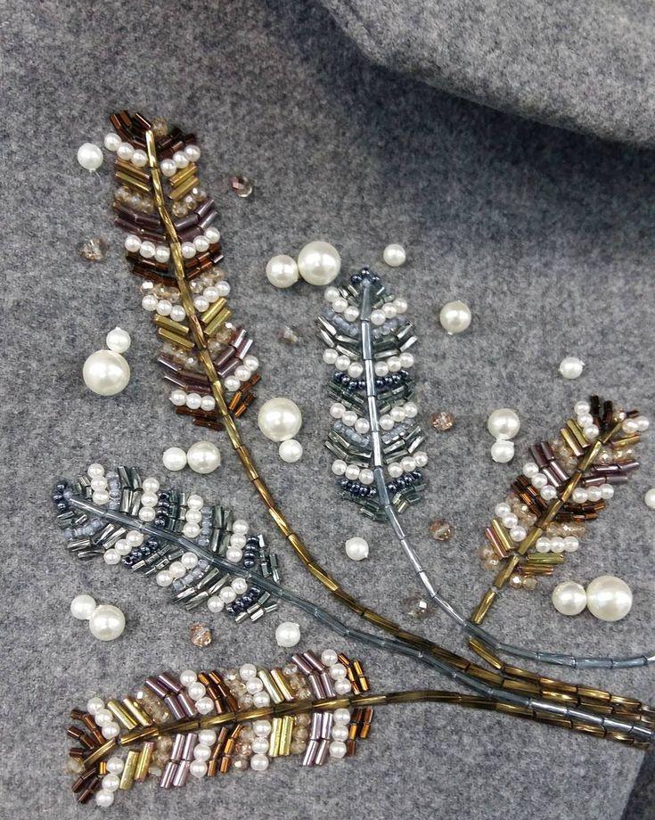 #пальто #ручнаяработа #ручнаяработамосква #вышивка #вышивкабисером #вышивкакрестом #handmade #осень2016 #одежда #стиль #стильвовсем #элемент #сшиласама #сшитьназаказ #ательемосква #алелье