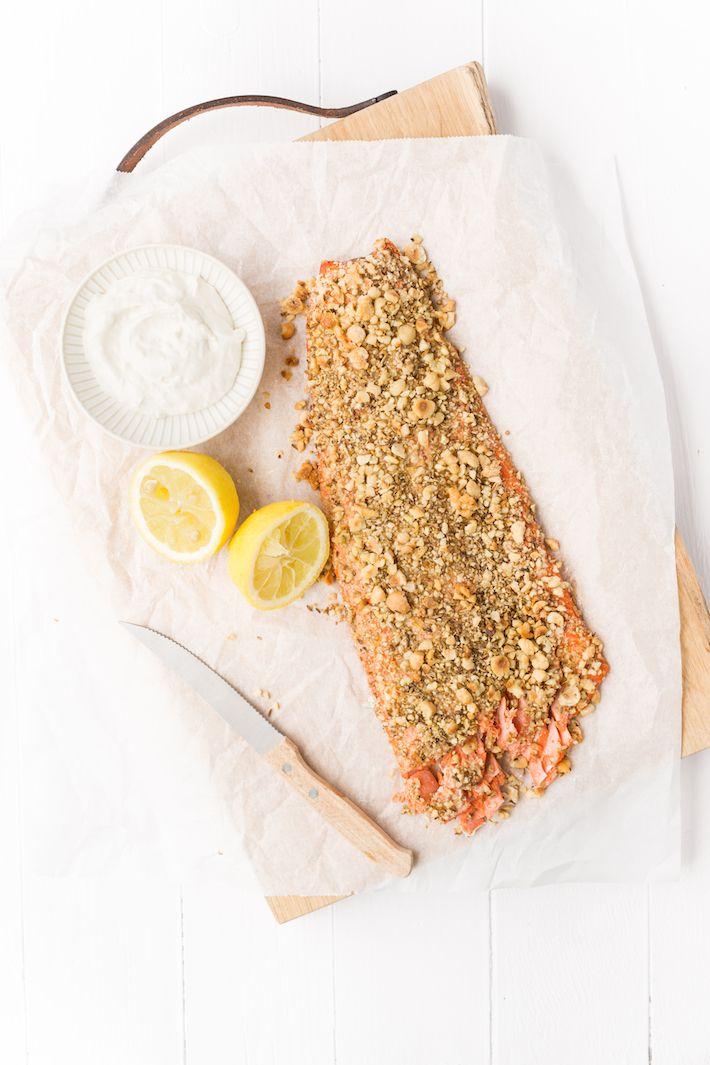 Superlekker is deze hele zalm met dukkah. En helemaal niet moeilijk om te maken. #salmon #dukkah