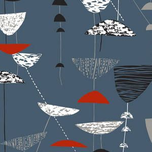 """The iconic """"Calyx"""" by Lucienne Day (of course)!  (As seen on the website """"ClassicTextiles.com"""")"""