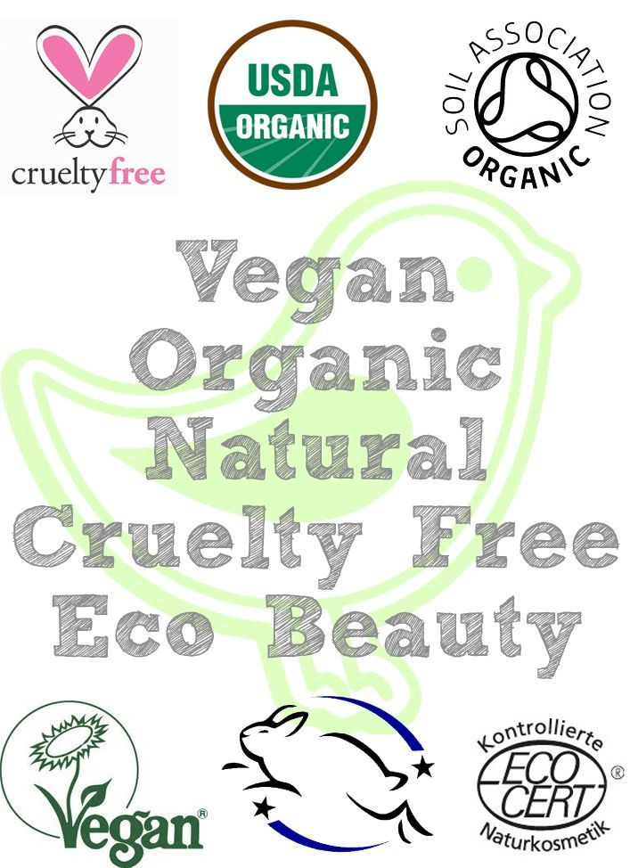 Organic beauty. Look for products with these logos