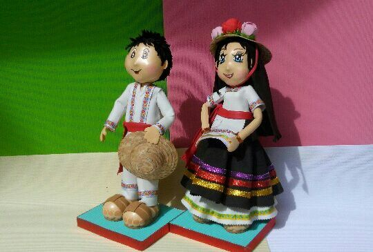 Pareja fofuchos traje tipico de Michoacán #fidelhau