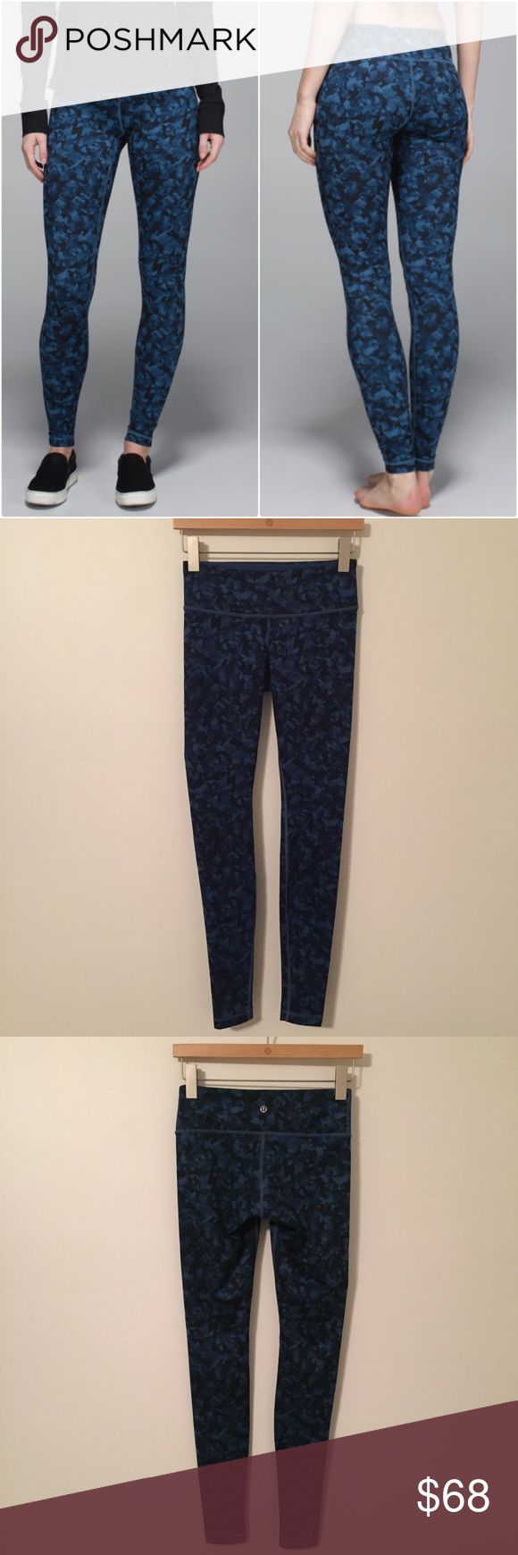 Lululemon Wunder Under Pant Lululemon Wunder Under Pant in the color called Mystic jungle hawk blue/harbour blue, size 4, great condition with no flaws. Bundle to save 10% off ❤️ lululemon athletica Pants Leggings