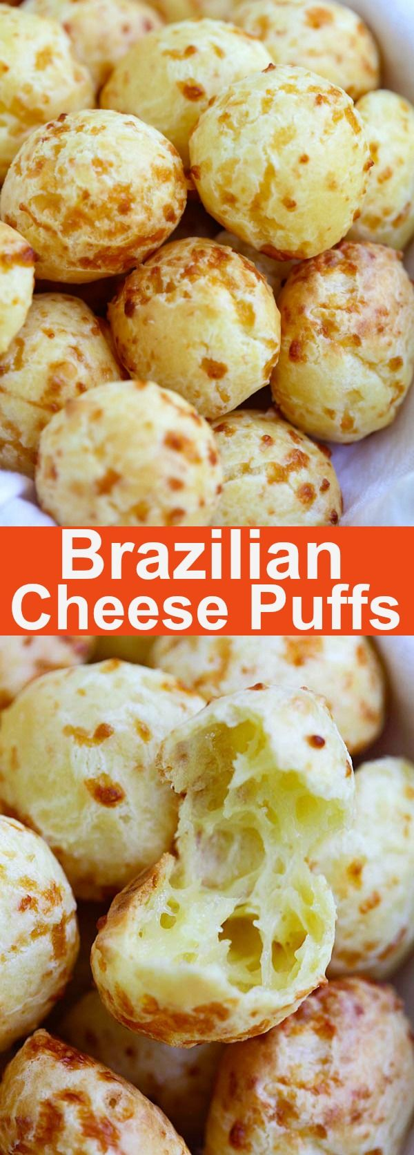 Brazilian Cheese Puffs – fully loaded Pão de Queijo with Parmesan cheese. These cheese puffs are addictive and taste just like Brazilian restaurant's | rasamalaysia.com
