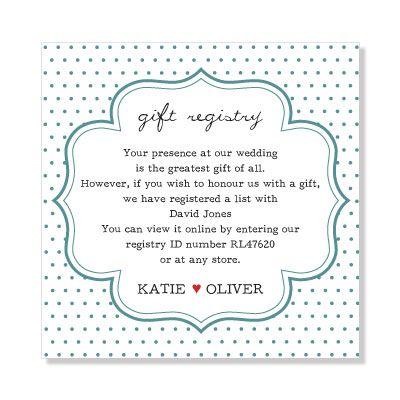Wedding Gift Registry Australia Bells Ring Pinterest Gifts And