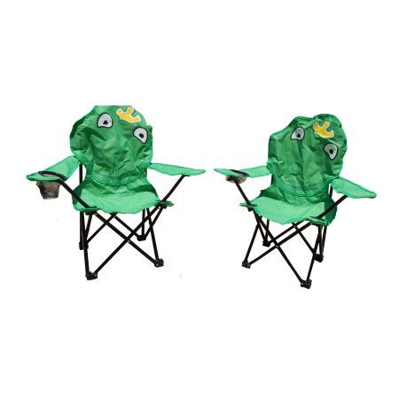 Maos Green Frog Folding Kids Camping Chairs (Set of 2)