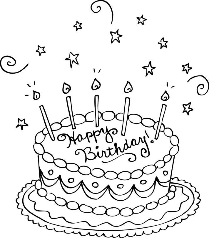 Birthday Cake Coloring Page Birthday Coloring Pages Happy Birthday Coloring Pages Coloring Birthday Cards