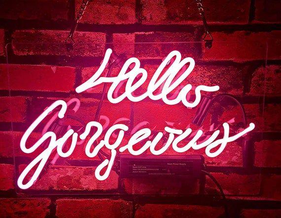 Hello Gorgeous Led Neon Sign Flex Led Neon Light Bar Home Makeup