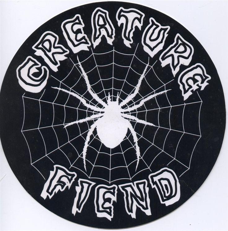 """Creature Skateboards Fiend 6"""" Round Sticker"""