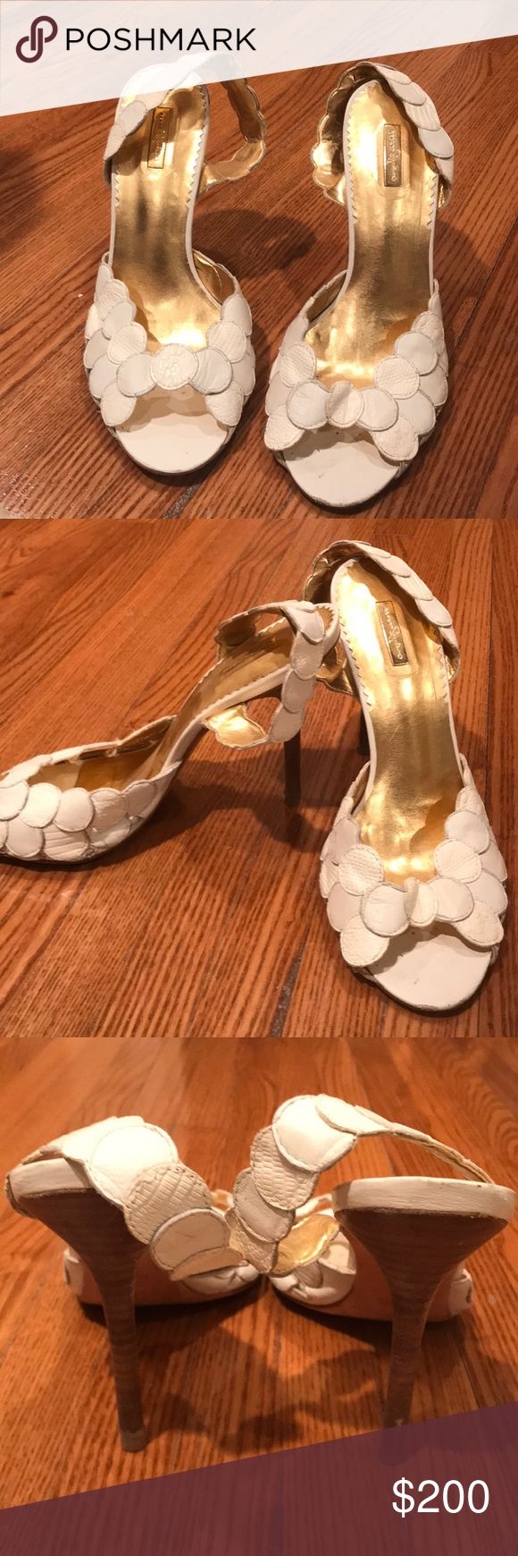 Report Signature White Dot Sandals Size 7.5 worn a few times but in excellent condition! Report Signature Shoes Sandals