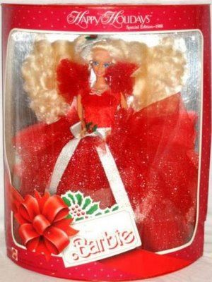 Holiday Barbie 1988 - Seriously, my favorite Holiday Barbie ever!!! I felt as though the Queen of England was passing on her crown to me when my older sister Rachel passed this down to me!!
