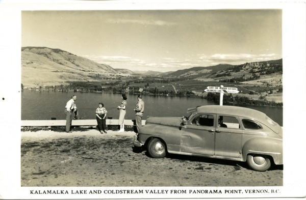 Kalamalka Lake and Coldstream Valley from Panorama ... | saskhistoryonline.ca. Vernon, BC.