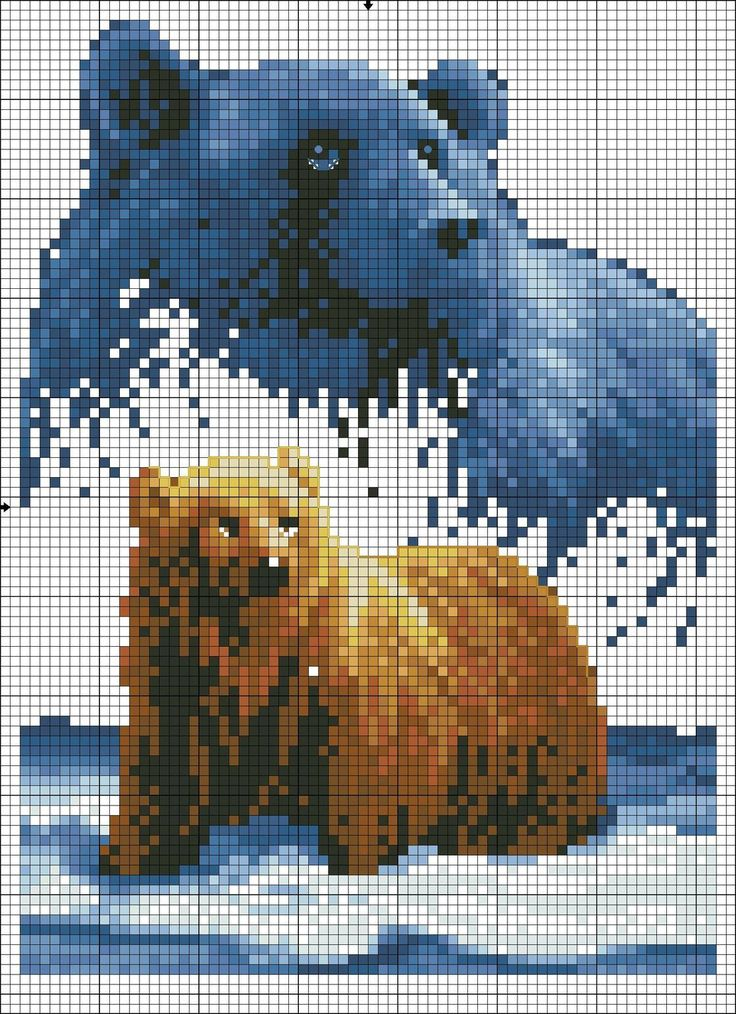 Cross stitch *<3* Point de croix Ours