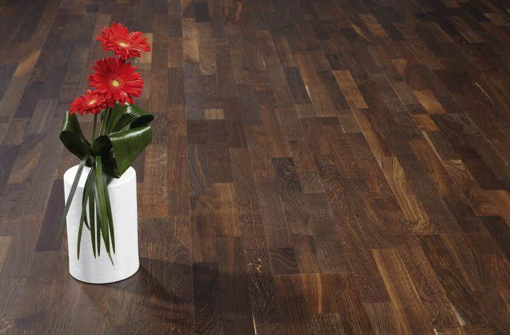 Polarwood parketti, Oak Chestnut Matt 3-s. Paksuus 14mm, soveltuu lattialämmityksen kanssa. Värisilmä. www.varisilma.fi