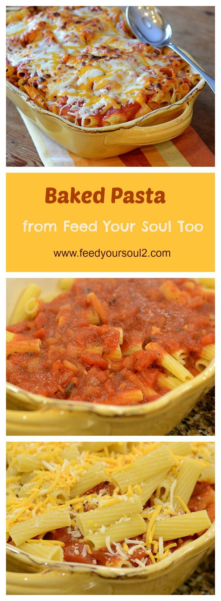 Baked Pasta from Feed Your Soul Too