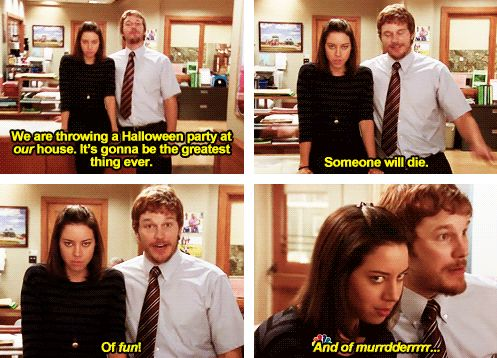 "Planning the Halloween party: | 23 Of April Ludgate's Most Iconic Lines On ""Parks And Recreation"""
