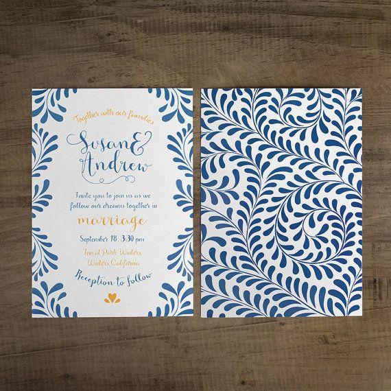 Talavera Wedding Invitation Talavera Suite by iinviteyou on Etsy