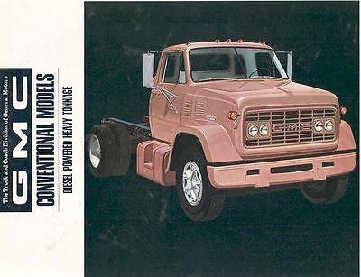 1968 GMC Conventional Diesel Heavy Duty Truck Brochure ...