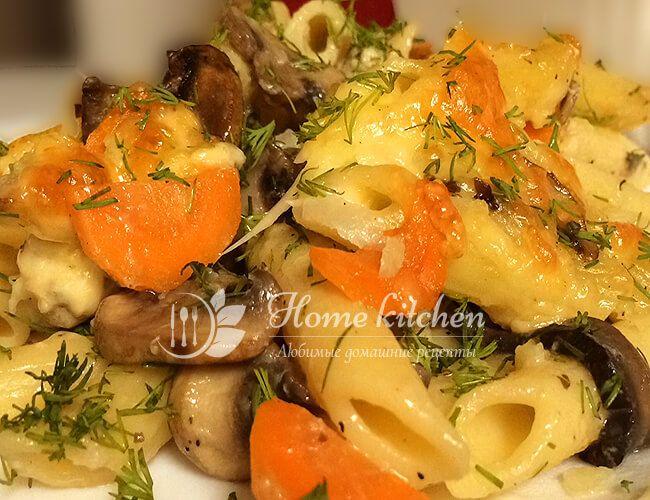 Куриная запеканка с макаронами в духовке. Очень простой и очень вкусный рецепт быстрого обеда или ужина. Самые простые ингредиенты. Объедение!