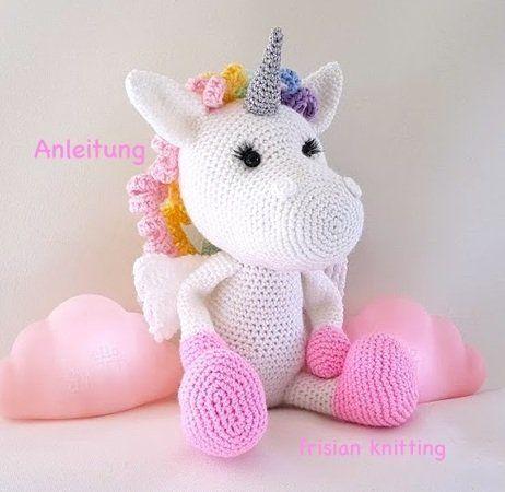 crochet pattern unicorn | einhorn häkeln, häkeln anleitung und scoodie häkeln