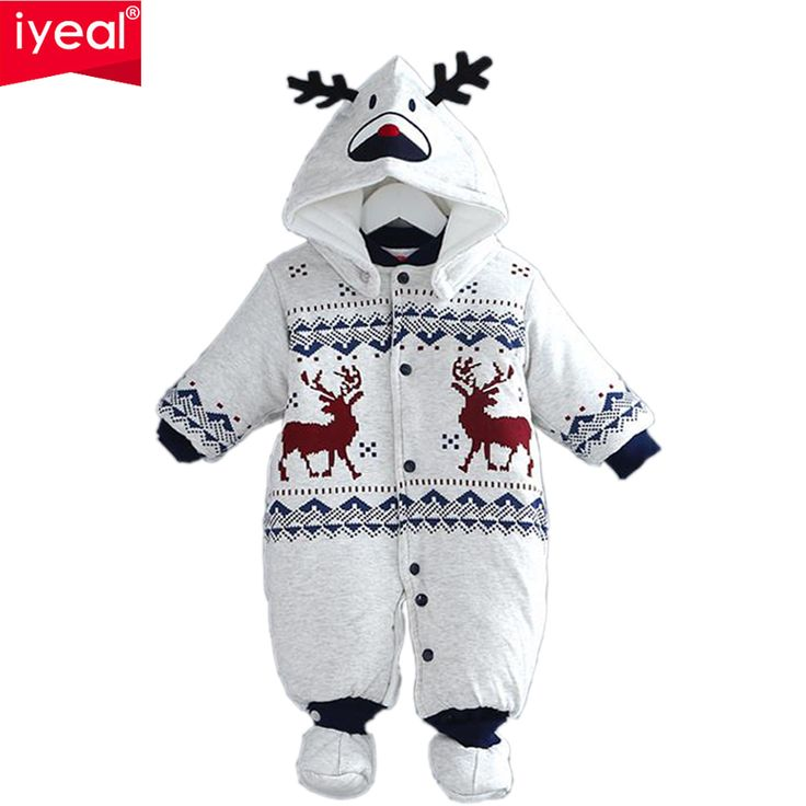 Newborn Christmas Deer Baby Boy Warm Infant Romper Kid Jumpsuit Hooded Infant Clothes Outfit Winter Baby Clothing //Price: $47.34 & FREE Shipping //     #hashtag4